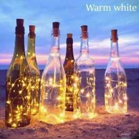 Solar Wine Bottle Lights 10 LED Cork Shape Night Fairy Light String Y1M2