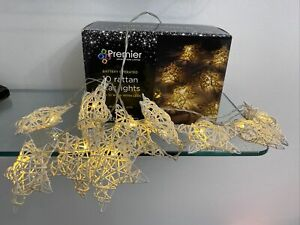 Premier 10 Rattan Star LED Indoor Lights. Battery Operated. New In Box.