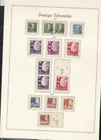 sweden 1947-49 stamps page ref 18055