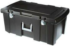 Footlocker Storage Box 92 Qt. Bin Container Case Metal Latches Rolling Wheels