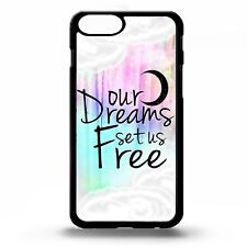 Dream inspiring life clouds quote phrase moon stars sky graphic phone case cover