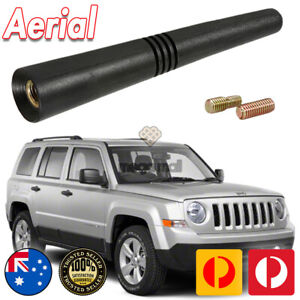 Antenna / Aerial Stubby Bee Sting for Jeep Patriot Black Flexi Rubber 8CM
