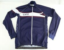 Capo Mens Cycling Full Zip Jersey Extra Large XL Blue Long Sleeve Jacket