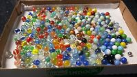 LOT of 280 Vintage Glass Marbles Cats Eye Swirl Spiral & More LOOK!