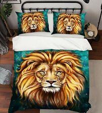 3D Painted Art Lion R745 Animal Bed Pillowcases Quilt Duvet Cover Queen Kay
