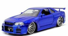 1:24 Nissan Skyline V6 GT-R R34 GTR 2002 Jada Fast And Furious Brian's Car Model