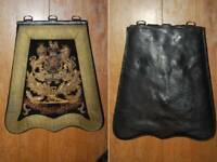 Victorian Royal Artillery Officers Full Dress Embroidered Sabretache & Cover