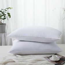 Puredown® 2 Pack Goose Down Feather Bed Pillows 233Tc with 100% Cotton Cover