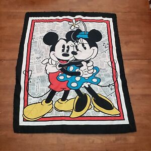 Mickey And Minnie Mouse Baby Quilt 31in. X 38 in.  Pre-owned. A9