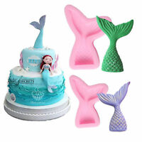 Mermaid Tail Silicone 3D Fondant Mold Cake Decor Chocolate Candy Mould Tools