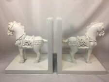 Horse Bookends Sicura Italian Designs White Lacquer