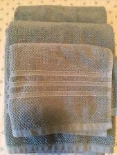 Hotel Balfour Thick Towel Set 3 Piece Grey/Green 2 Bath 1 Hand 100% Cotton NWOT