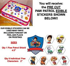Paw Patrol Characters Edible Cake Stickers Cut Outs Edible Decals for Cake Party