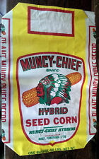 Vintage Muncy Chief Hybrid Seed Corn Paper Bag NOS Feed Grain Sack Farm