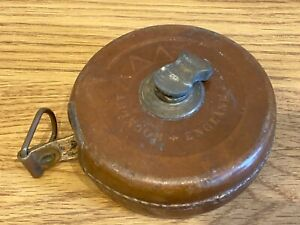 Vintage 33ft Abbey Hockley No.230 Leather Cased Tape Measure