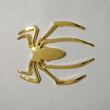 3D Spider Golden Emblems Badges Sticker Golden Can am Spyder RT ST RS - Set 2pc