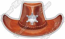 """Stratton Sheriff Hat Cowboy Western Texas Car Bumper Vinyl Sticker Decal 6""""X3.5"""""""