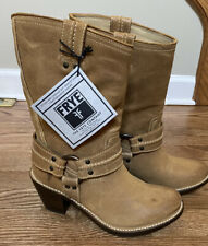 New Frye Suede Harness Boots 8