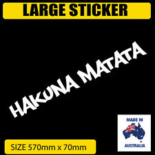 HAKUNA MATATA CAR STICKER Windscreen, Vinyl Styling Car Van 4X4 CUSTOM