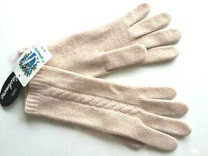 NWT Portolano 100% Cashmere Gloves Light Pink