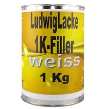 1K Filler 1x 1 kg Grundierung WEISS                       für Autolack Lackierer