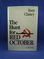 THE HUNT FOR RED OCTOBER Tom Clancy First 1st Edition 1984, SIGNED by Author