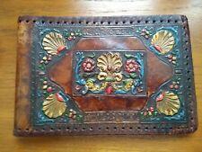 Vintage Original Leather Photograph /Postcard Album