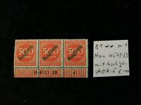 Deutsches Reich,Dienstmarken 1923 - MiNr. 81 Ziffern im Kreis 500 M  HAN Fehler