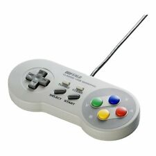 Buffalo Classic USB Gamepad for PC Mac SNES Style Game Controller BSGP801GY[New]