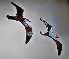 Two Birds Flying    Metal Wall Art Accents copper/bronze