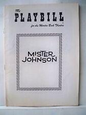 MISTER JOHNSON Playbill EARLE HYMAN Autographed 1956