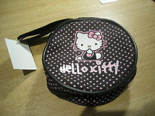 "HELLO KITTY 4.5"" ROUND PURSE - PENCIL CASE - COSMETIC BAG - BNWT"