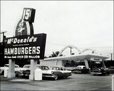 Mcdonald's Restaurant Photo 8x10 - 1950's Des Plaines Illinois Speedee Kroc