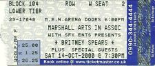 RARE / TICKET CONCERT LIVE - BRITNEY SPEARS / OCTOBER 2000