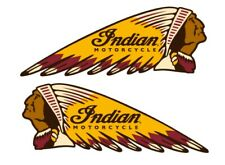 Indian Tank Vinyl Decals Gas Fuel Bike Sticker Emblem Left & Right Motorcycle