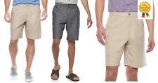 Marc Anthony Mens Slim Fit Shorts Linen Blend Flat Front size 29 36 38 40 NEW