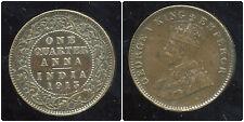 INDE britannique  one quarter anna    1913  ( bis )