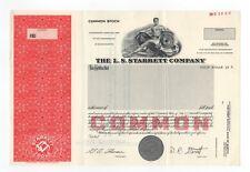 SPECIMEN - The L.S. Starrett Company Stock Certificate