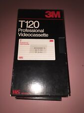 3M Professional Videocassette Used 2 Hour T-120 VHS