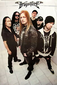 """DRAGONFORCE """"GROUP STANDING IN TILED ROOM"""" POSTER FROM ASIA - Power Metal Music"""
