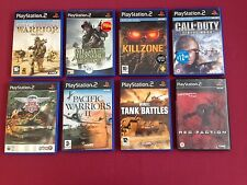 Jeux Ps2 bundle. Killzone, Call of Duty, médaille d'honneur, red faction, WWII Tank