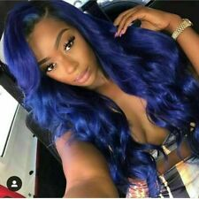 Luxury Lace Front Remy Midnight Blue Body Wave Glueless Full Lace Human Hair Wig
