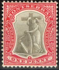 Lightly Hinged Single Montserratian Stamps