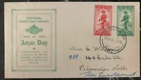 1936 Palmerston New Zealand First Day Cover FDC Anzar Day Landing Of Allied For