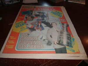 1978 FULL NEWSPAPER special plus montreal canadiens stanley cup poster lafleur