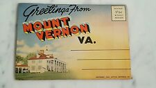 Vintage 1946 Copyright Accordian Postcard Mount Vernon, VA