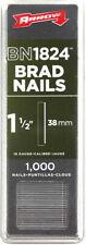 """ARROW BN1824 Pack 1000 BRAD NAILS 1.5"""" 38mm 18 Gauge Nail Gun Stapler Refill 18g"""