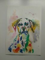 Original Painting of Dalmatian(A5). Watercolour. Signed by the author.