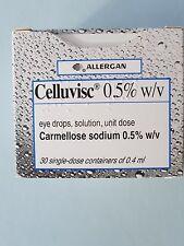 CELLUVISC EYE DROPS ALLERGAN 30 X 0.4ML CARMELLOSE SODIUM 0.5% CONTACT LENS