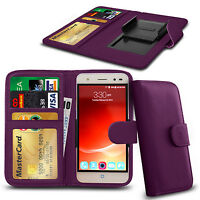 Clip On PU Leather Flip Wallet Book Case Cover For ZTE Blade V6 5""